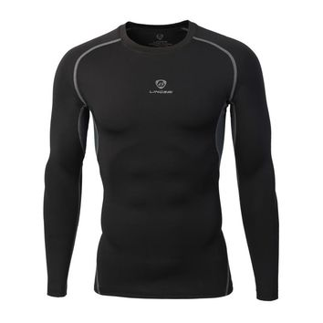 Men Quick Dr Compression Fitness Shirt Men Bodybuilding Long Sleeve T Shirt Crossfit Tops Shirts Men's Clothing