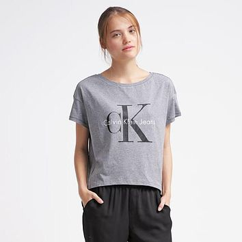 CK Calvin Klein Women Fashion Tunic Shirt Top Blouse