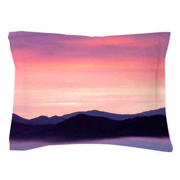 Rocky Mountain Sunset Pillow Shams