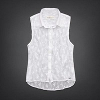 NWT Abercrombie Shirt L Large Kaylin Embroidered White Top Gorgeous! Retail $58!