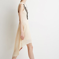 Eyelash Lace-Trimmed Sheath Dress