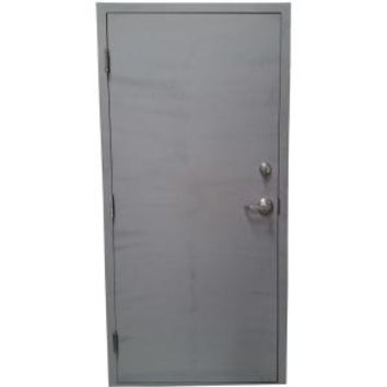 Armor Door 36 in. x 80 in. Fire-Rated Gray Right-Hand Outswing Flush Steel Commercial Door with Welded Frame, Deadlock and Hardware VSDFDWD3680ER at The Home Depot - Mobile