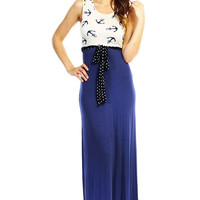 Come On To Me Anchor Maxi Dress