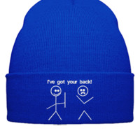 i ve got your back embroidery hat  - Beanie Cuffed Knit Cap