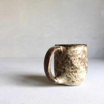 DIRTY CREAM MUG 16-18oz, ceramic, pottery, handmade, rustic mug, coffeemug, coffee, cup, handmademug, potterymug, sturdy mug, big mug