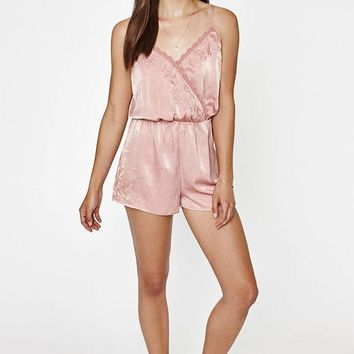 ESBONDI5 Kendall and Kylie Surplice Embroidered Romper
