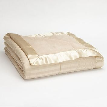 Striped 250-Thread Count Down-Alternative Blanket - King
