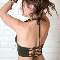 Umba Lace-up Back Halter Top - Fun - Dance - Yoga - Best Seller