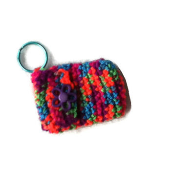 Dark Neon Rainbow Keychain Pouch - Money Holder - Item 1038