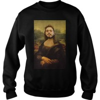 Post Malone Mona Lisa smoking shirt