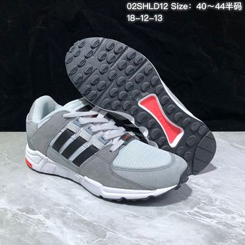 KUYOU A365 Adidas EQT RF Support 93 Suede Retro Running Shoes Gray Red