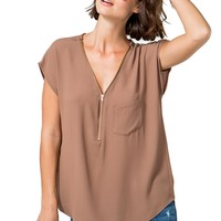 Candice Zip Blouse