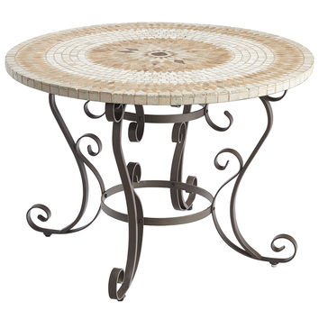 "Paloma 43"" Brown Mosaic Dining Table"