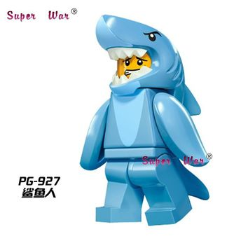 Star Wars Force Episode 1 2 3 4 5 20pcs  superhero marvel Shark Suit Guy Collection Series building blocks figure bricks model classic baby toys AT_72_6