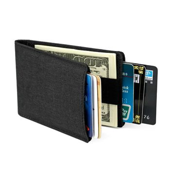 Slim Wallet Bifold RFID With Money Clamp 8 Cards Holder Men Wallets Nylon Thin Credit Card Sleeve Pocket Handy Overwatch Purse