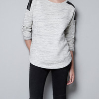 SWEATSHIRT WITH CONTRASTING SHOULDERS - T-shirts - TRF - ZARA United States