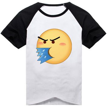 18Colors Emoji Emoticons Smiley Faces Funny Faces T-shirt Cosplay Costume Cute Unisex Short Sleeve Tee Shirt Daily Casual Tops