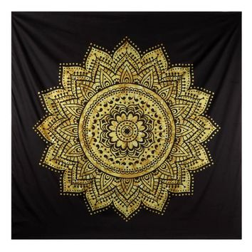 Ouneed India Style Wall Hanging Tapestry Mandala Home Decorative Printed Hot Beach Towel Blanket Mat Happy Sale ap516