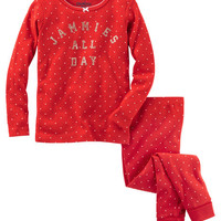 2-Piece Sparkle Snug Fit Cotton PJs