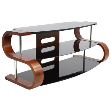 Lumisource Metro Series 120 TV Stand  in birch/black