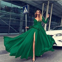 ]Women Formal Wedding Bridesmaid Evening Party Ball Prom Gown Long Cocktail Dress