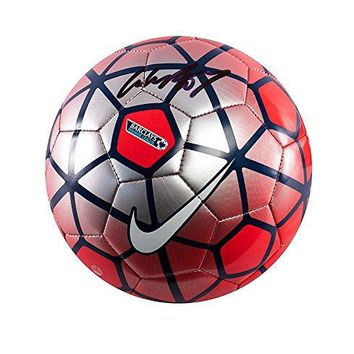 Wayne Rooney Signed Football - Nike Pitch Premier League Football Red & Silver - Autographed Soccer Balls