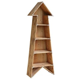 Chickasaw Rustic 4 Shelf Wood Arrow Bookshelf By Crestview Collection Cvfzr2280