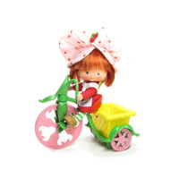 Strawberry Shortcake Tricycle Vintage Berry Cycle Plastic Bike for Doll