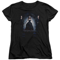 VAMPIRE DIARIES/BRING IT ON-S/S WOMEN'S TEE-BLACK