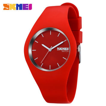 SKMEI Band Women Fashion Casual quartz watch Men watches Montre Femme Reloj Mujer Silicone Waterproof Sport Wristwatches Relojes