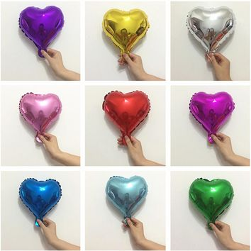 "5"" 10inch Foil Heart Star Balloons for Birthday Party Decorations Adults Kids Baby Shower Bachelorette Party Wedding Decorations"
