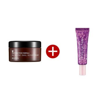 MIZON All In One Snail Repair Cream Special Edition ( Face Cream 30ml + Eye Cream 10ml) Face Skin Care Set Korea Cosmetics