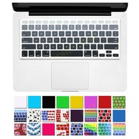 "DHZ® Grey Ombre Colors Keyboard Cover Silicone Skin for MacBook Pro 13"" 15"" 17"" (with or w/out Retina Display) iMac and MacBook Air 13"" (Mix Grey Ombre)"