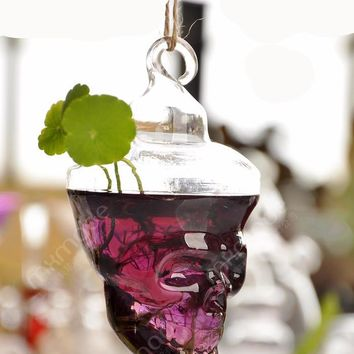 Handmade Plant Skull Head Glass Vase FREE SHIPPING!!!