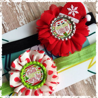 Christmas headband set perfect photo props! Fits most larger infants and children.
