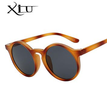XIU Classic Round Vintage Sunglasse Women Brand Designer Female Glasses Retro Fashion Sunglasses Top Quality UV400