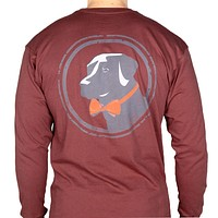Long Sleeve Original Tee in Rust Red by Southern Proper