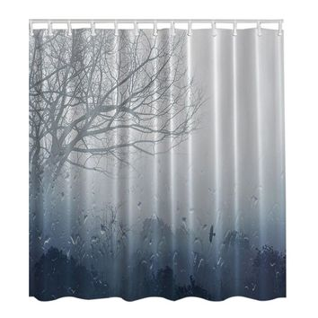 180*180 CM SPA Waterproof Shower Curtain Digital Printing Bathroom Decoration Shocking Shower Curtains With Hooks High-quality