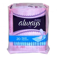 Always Thin Daily Liners, 20 Count