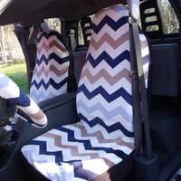 1 Set of Mix Chevron Print Seat Cover and  Steering Wheel Cover Custom Made.