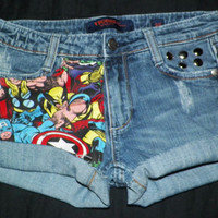 The AVENGERS Marvel Cuffed Studded Shorts