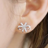 Glamorous Bow Wrapping Ear Cuffs (Tassel Studs) - LilyFair Jewelry