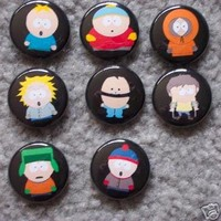 Set of 8 BRAND NEW South Park One Inch Buttons / Pins