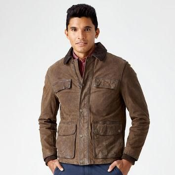 Timberland | Men's Tenon Leather Field Jacket
