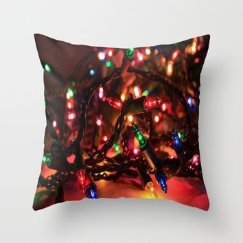 Just Lights Throw Pillow by Jessica Ivy