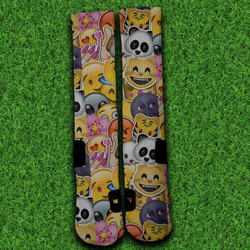 Smiley Emoji Collage Socks,Custom socks,Personalized socks,Elite socks