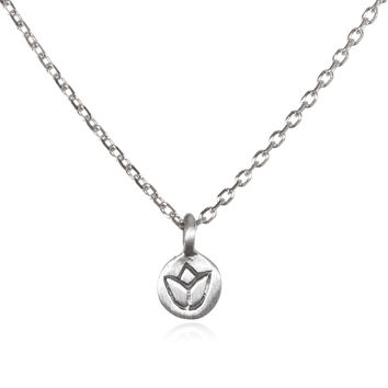 Silver Lotus Necklace - Delicate Flower