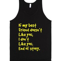 Best friends-Unisex Black Tank