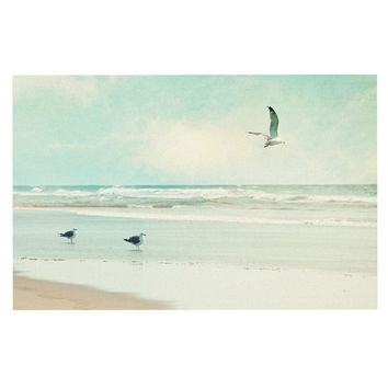 "Sylvia Cook ""Away We Go"" Beach Seagull Decorative Door Mat"