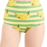 Kawaii High Waist Dive for Excellence Swimsuit Bottom in Banana Stand